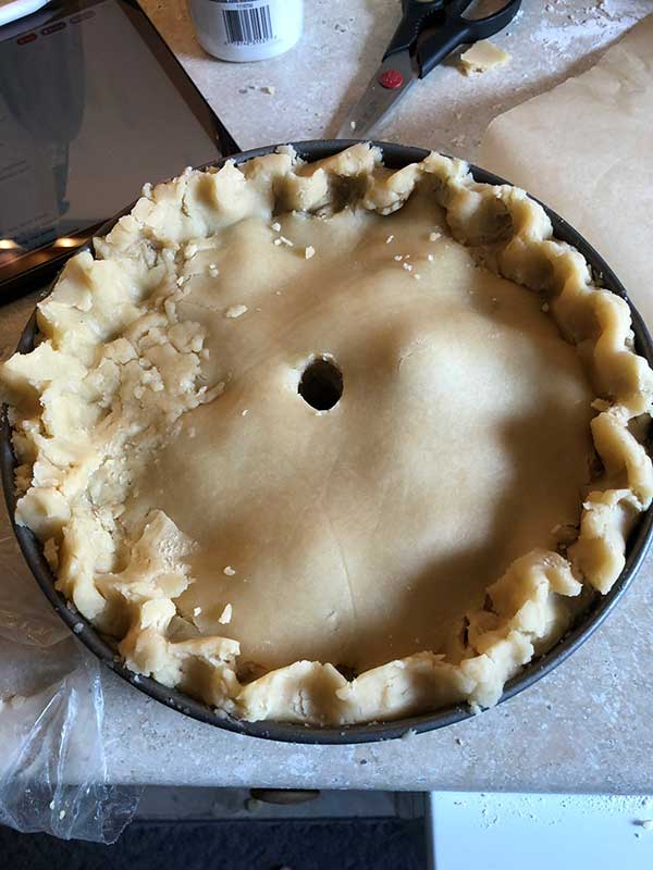 pie before baking