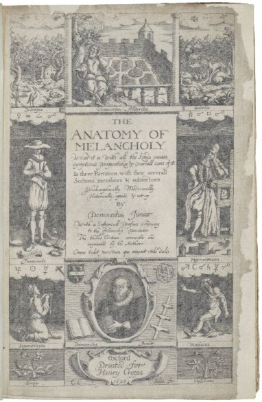 The Anatomy of Melancholy title page