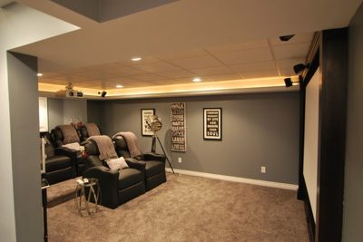 basement remodel by Shakespeare Home Improvement Co.