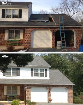 Shakespeare Home Improvement Co. Room Addition Before and After Project