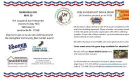 Memorial Day Fundraiser