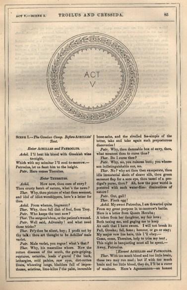 Troilus and Cresida Act V original
