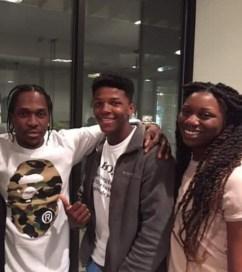 Hip Hop Artist Pusha T, Jakoby Walker, and Shakola