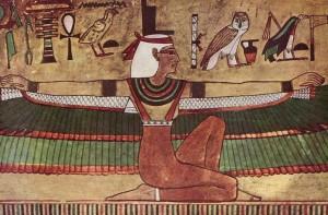 エジプトのイシス女神 ひな壇の飾り?敷物?に似ている