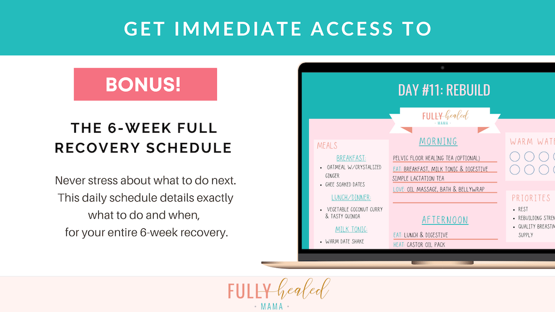 6-week full recovery schedule mock up