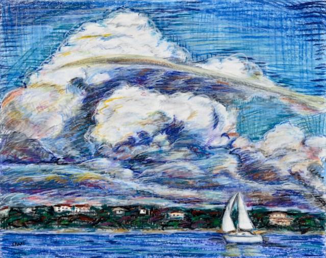 sailing on lake travis, shakti sarkin