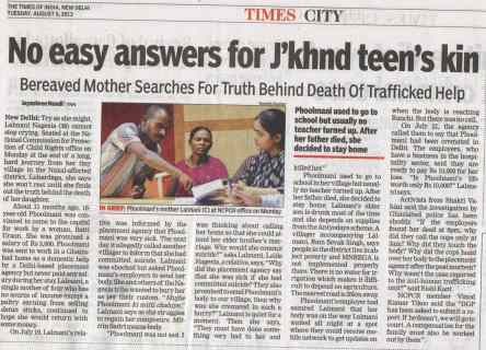 No easy answers for Jharkhand teen's kin