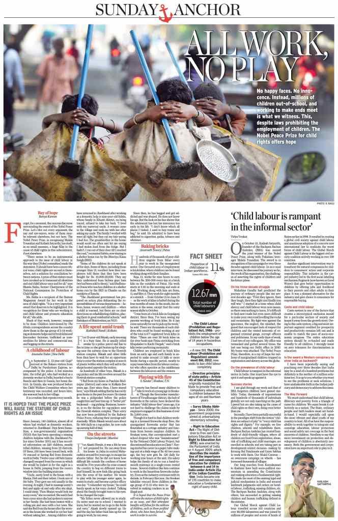 CHILD LABOUR HINDU ARTICLE