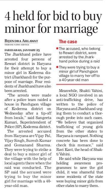Haryana Bride Trafficking