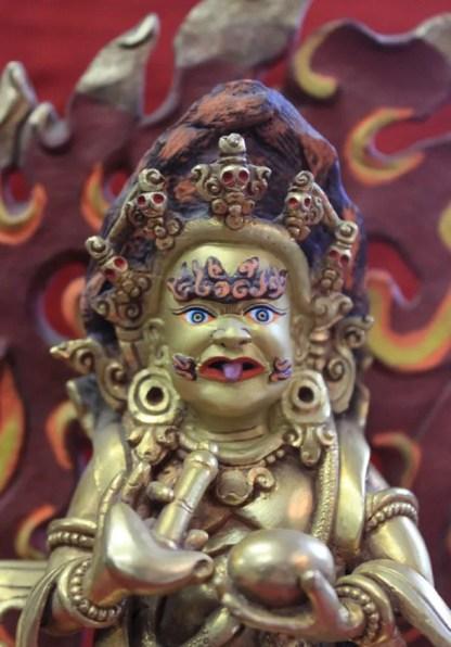 Mahankala full gold buddha statue face