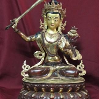Golden Manjushri Buddha Statue