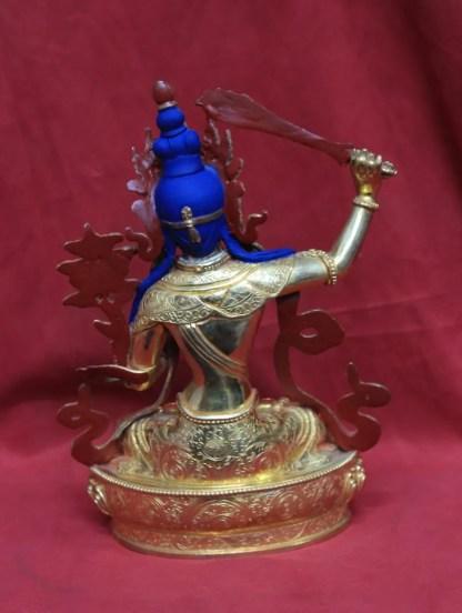 full gold Buddha Manjushri Statue Back