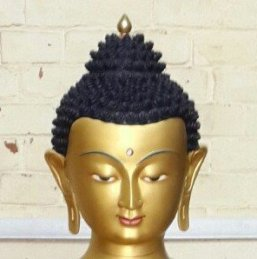 Gold Buddha - 24K Gold Painted face