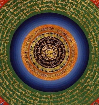 Tibetan Om Thangka Paintings