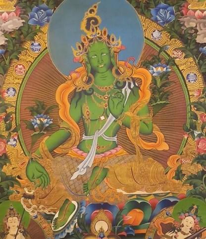 green tara thangka big size