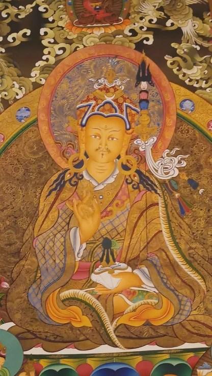 padmasambhava tibetan thangka
