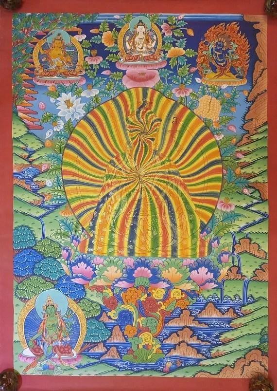 rainbow guru thangka