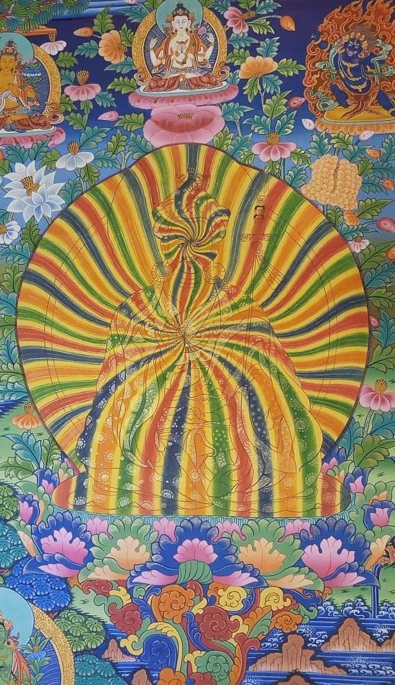 rainbow guru thangka painting