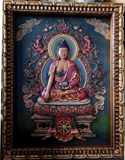 shakyamuni buddha relief thangka painting