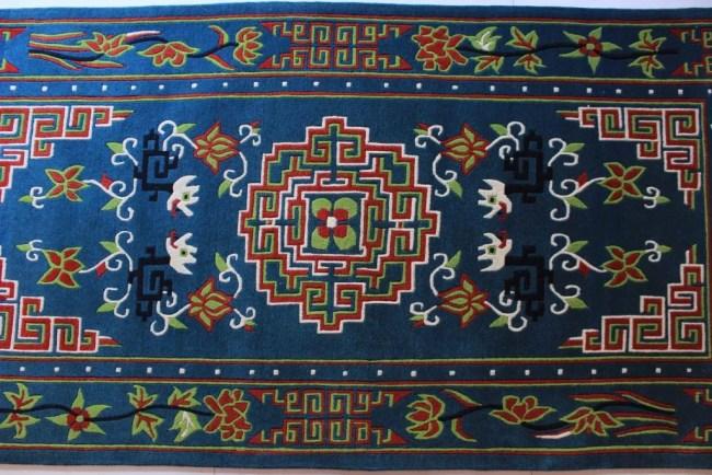 Tibetan Mandala Carpet blue