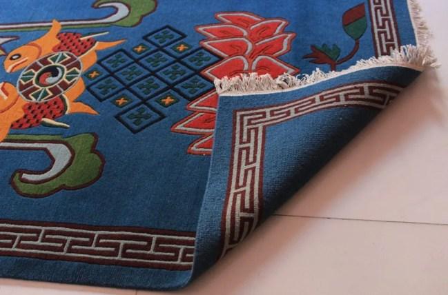 Tibetan Carpet Eight Auspicious backview 1