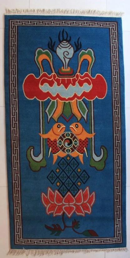 Tibetan Carpet Eight Auspicious