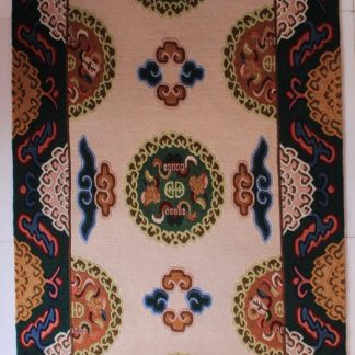 Tibetan lotus carpet
