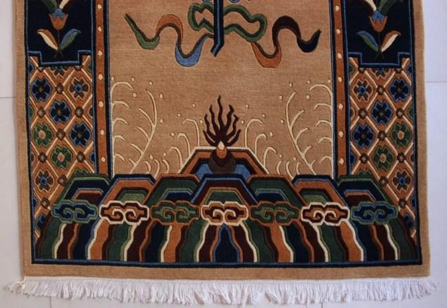 Tibetan mandala lotus carpet 1