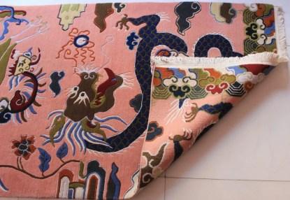 Tibetan rug dragon bird backview