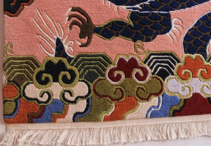 Tibetan rug dragon carpet details