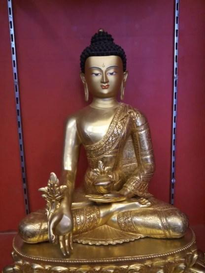 Medicine buddha statue full gold 18 inches full body