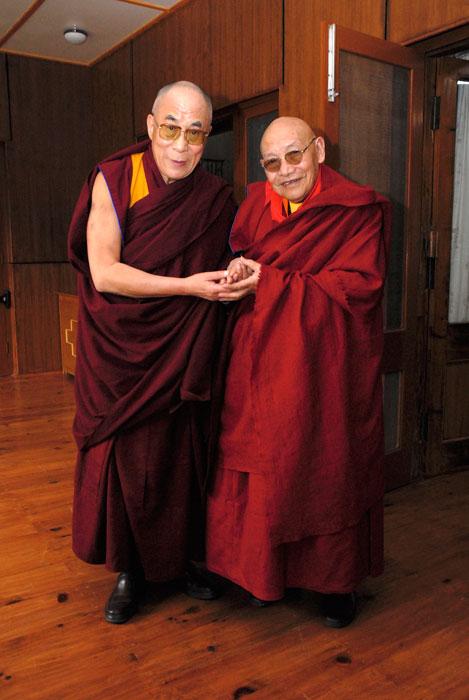 Trulshik Rinpoche and Dalai-Lama