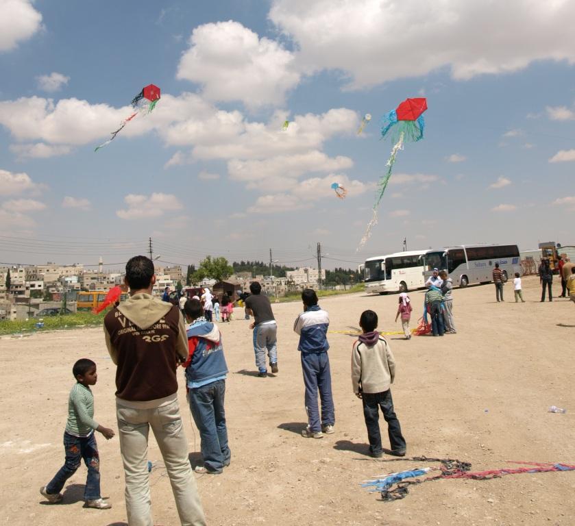 Kite Flying at Jabal Al Qalaa (Citadel)