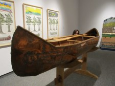 A Canoe representing the Native American leader Tecumseh and his journey across North America to bring together all the different band leaders.