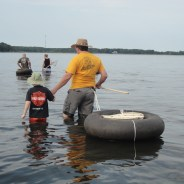 Crabbing in Claiborne, Maryland on the Fourth of July
