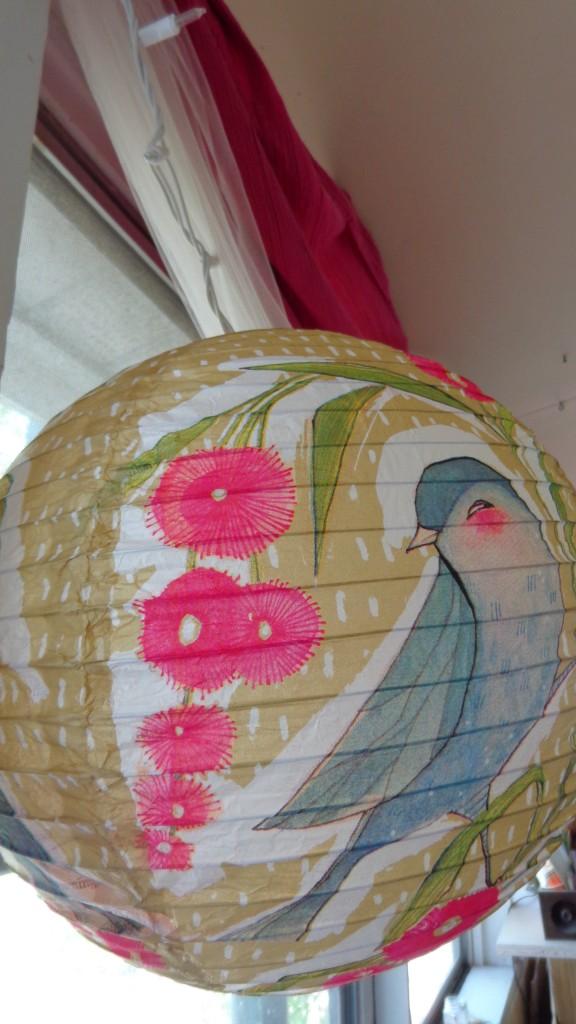 paper bird lantern