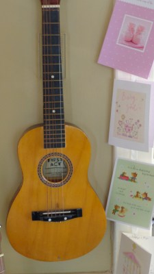 Guitar and baby cards
