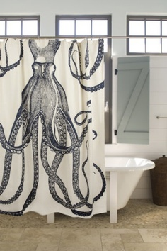 octopus sjower curtain from Shalavee.com Pinterest post
