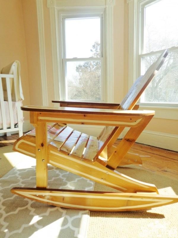 Oh, Promise Me!, decoupaged Adirondack rocking chair on Shalavee.com