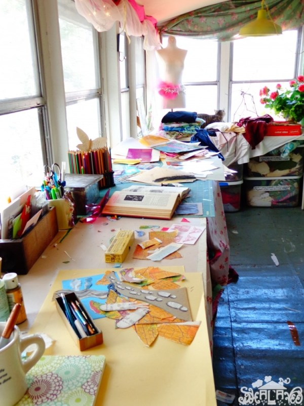 My craft room from Shalavee.com