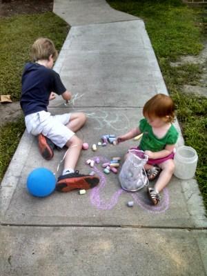 Sidewalk chalkin' too from Summerfestive on Shalavee.com