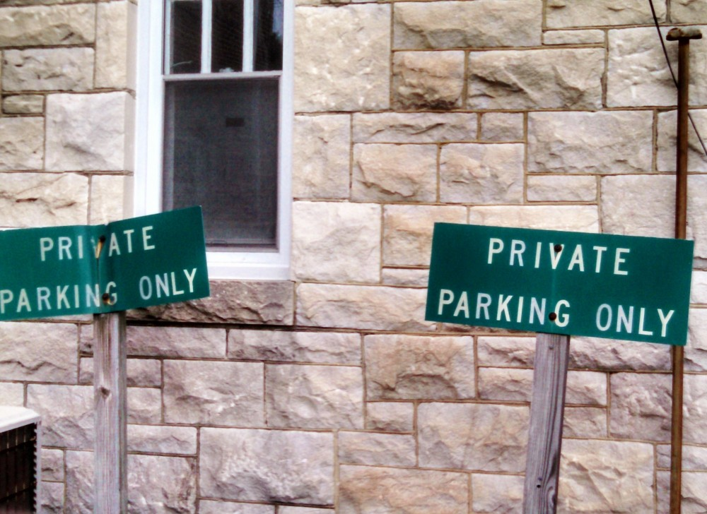 Private Parking Only from Shalavee.com