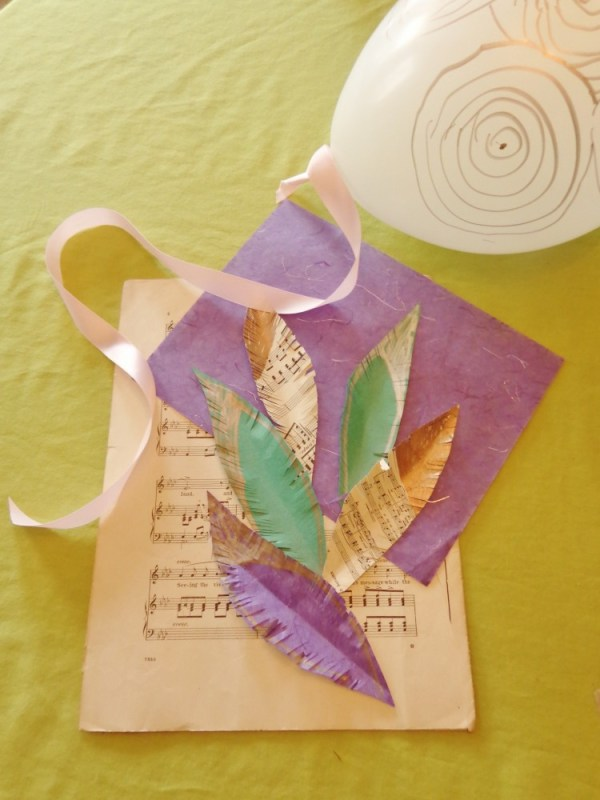paper feathers on shalavee.com