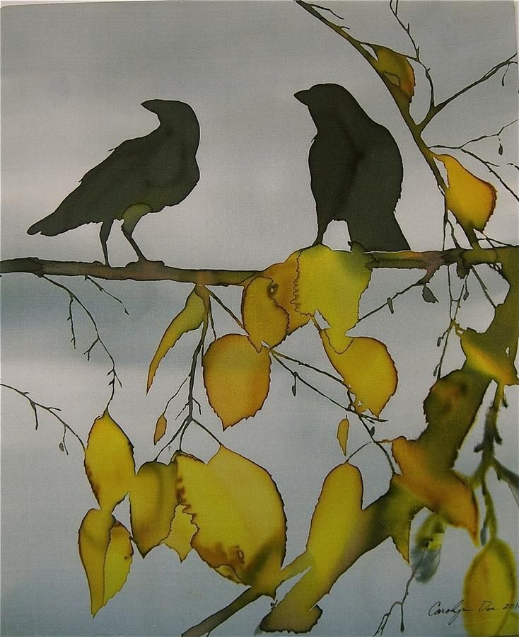 crows and leaves from Shalavee.com