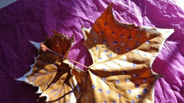 painted leaves on Shalavee.com
