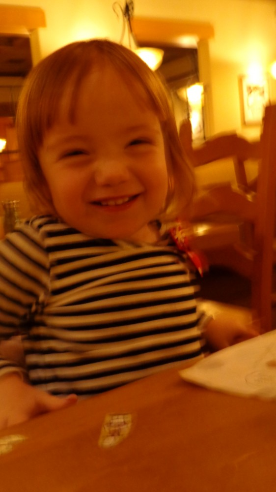 Fiona at the Olive Garden