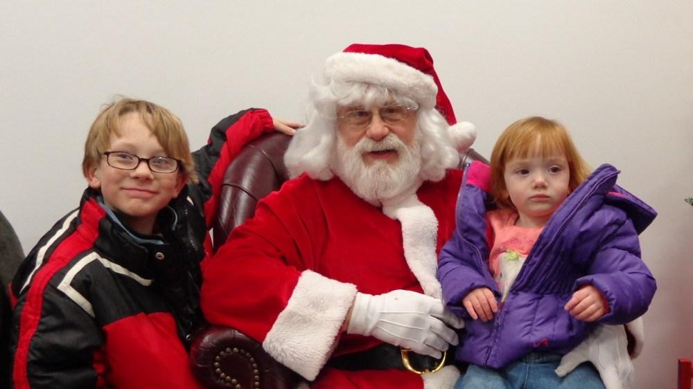 Santa with Eamon and Fiona on shalavee.com