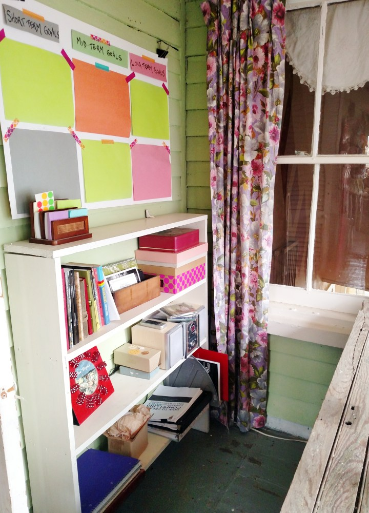 craft room and goals board on Shalavee.com