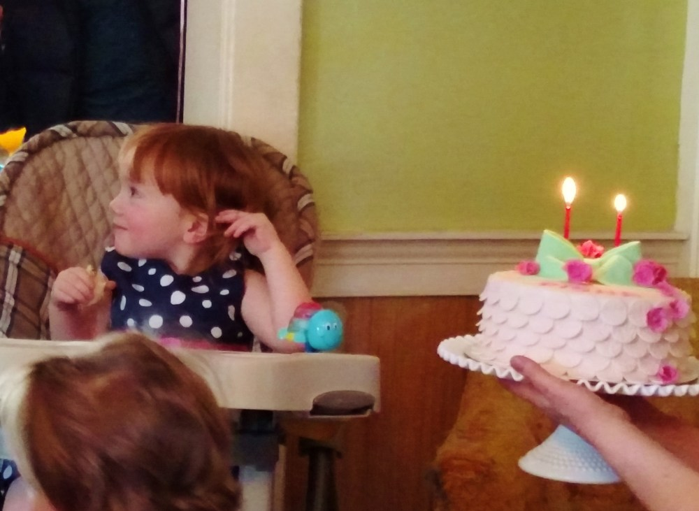 cake and singing for Fina's birthday on Shalavee.com