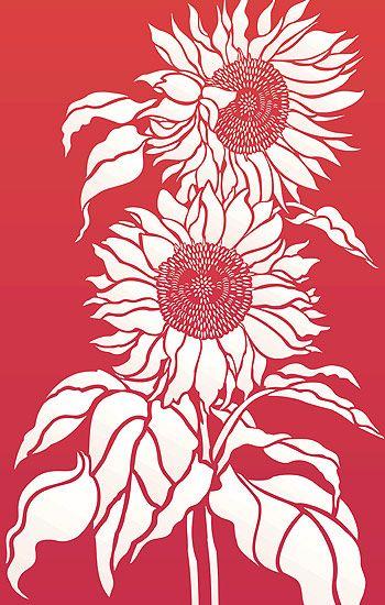 sunflower stencil on shalavee.com